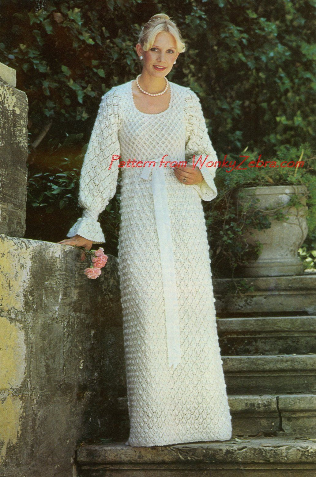 Knitting Pattern Dressing Gown : Knit Wedding Dress knitted wedding dresses Pinterest ...