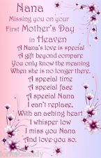 Pin By Charity Whitt On Nana First Mothers Day Happy Mothers Day Mother S Day In Heaven