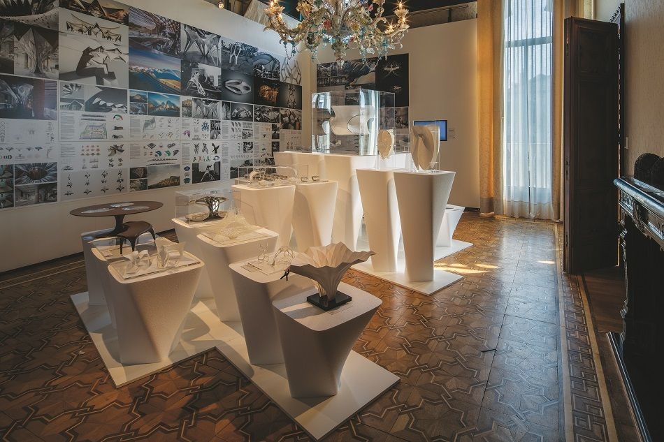 The Zaha Hadid retrospective is being held at Palazzo Franchetti in Venice, Italy. (Photos by AFP)