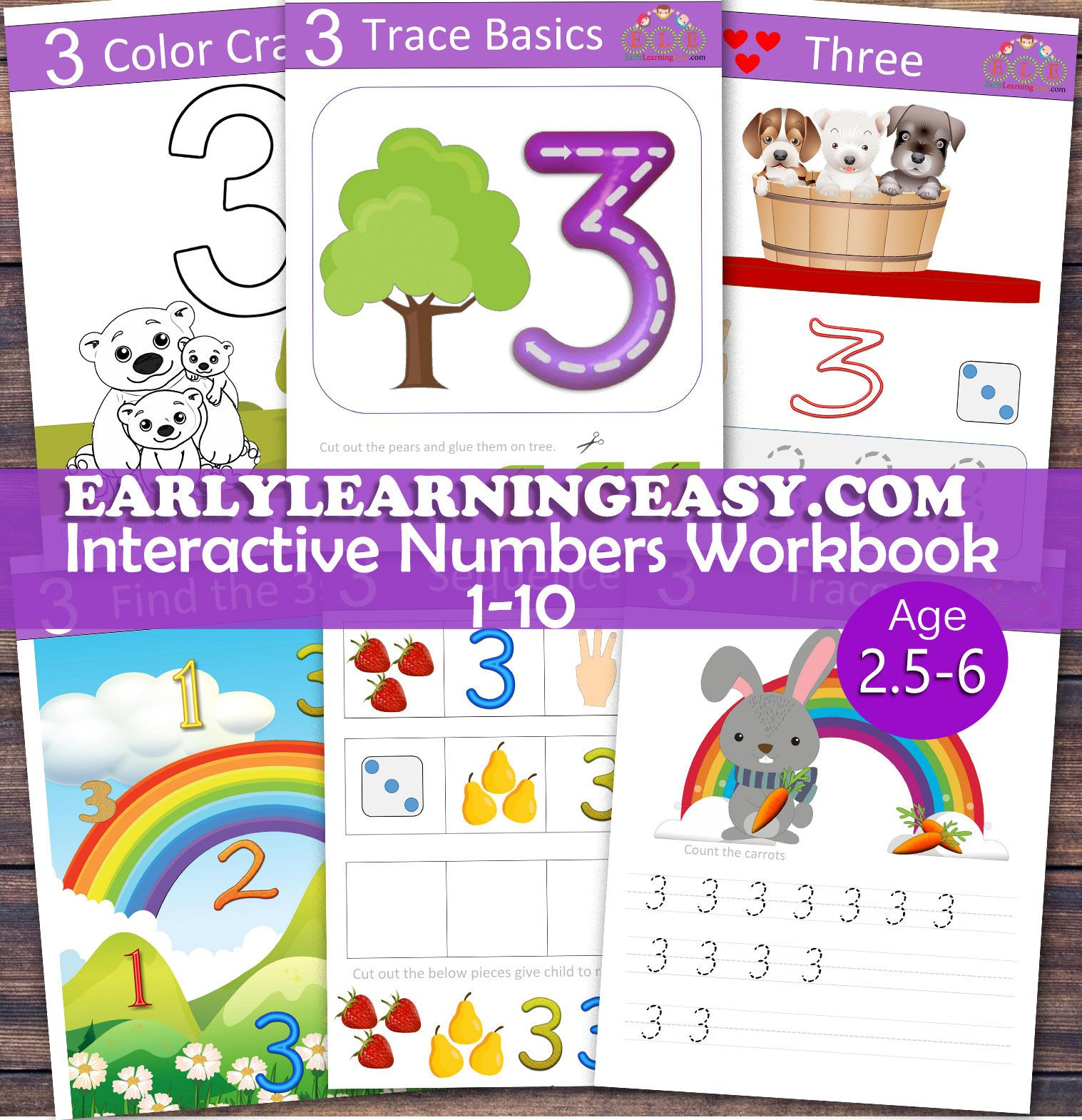 Numbers Interactive Workbook For Toddlers Pre K