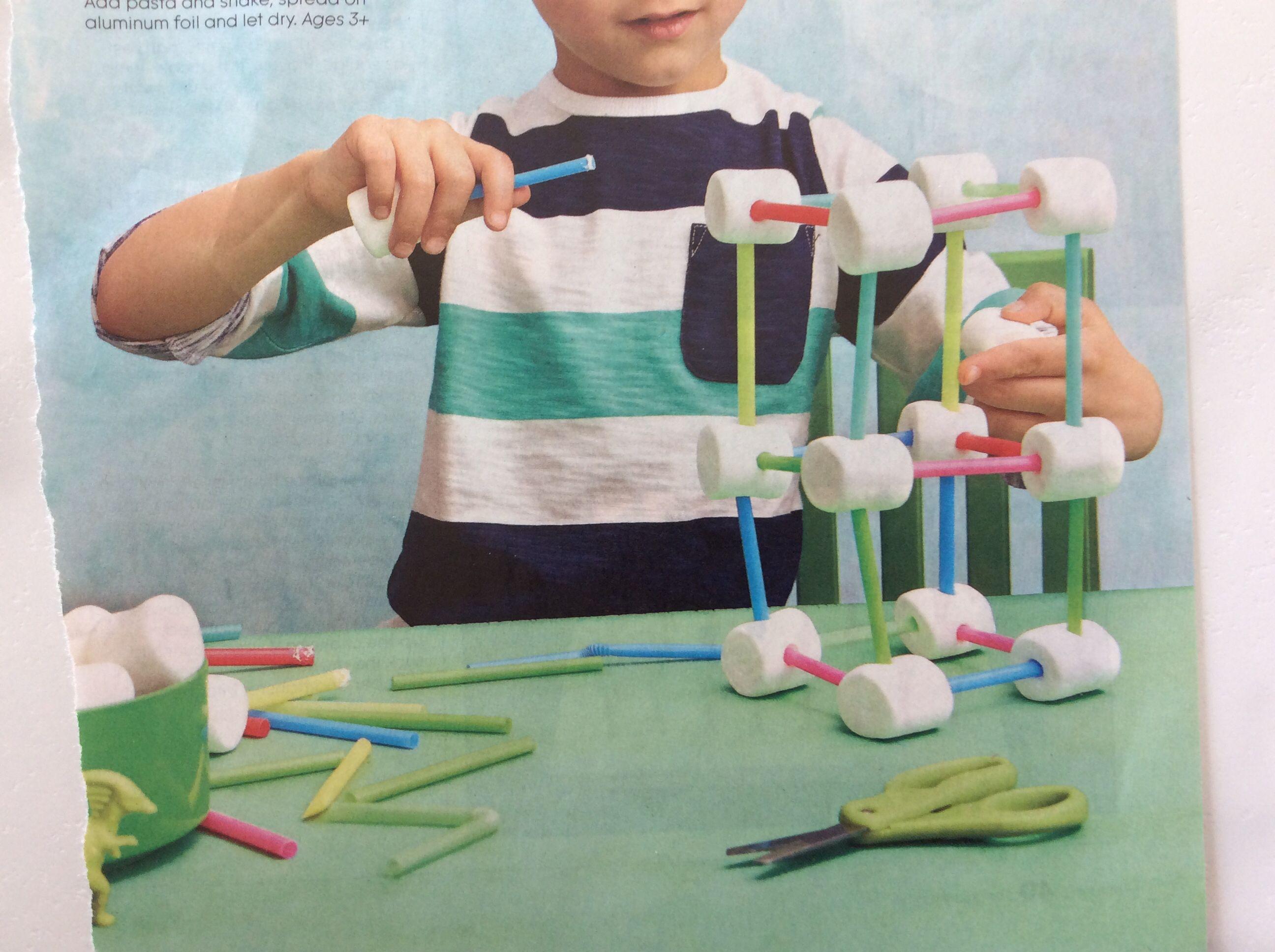 Marshmallows With Straws