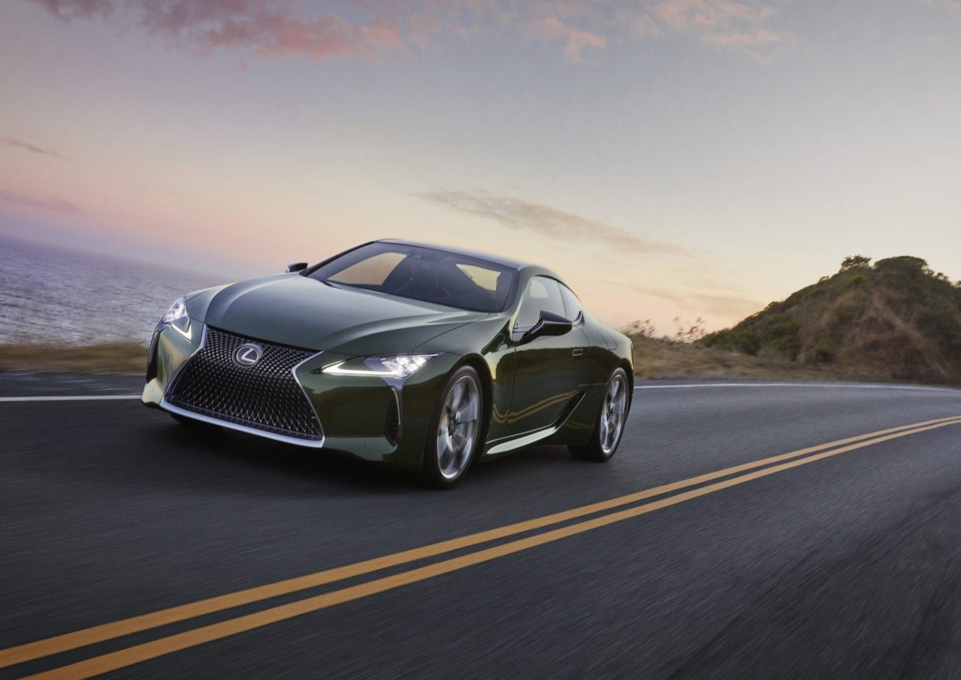 2020 Lexus Lc 500 Inspiration Series Is A Mean Green Machine Lexus Lc Lexus Coupe