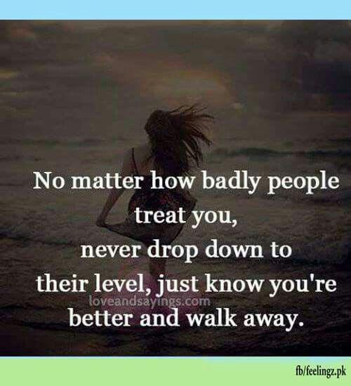 Maturity..never drop down.