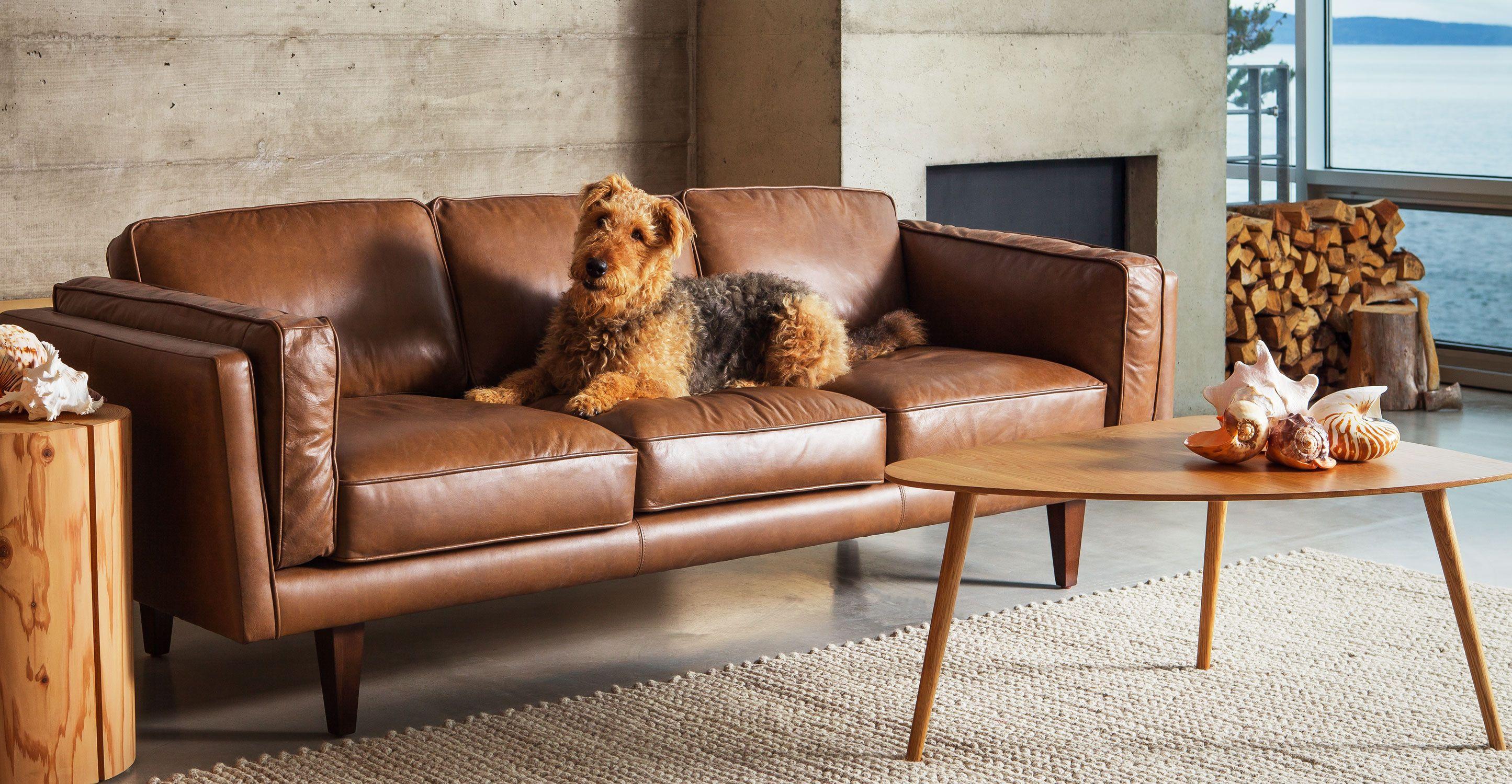 Terra Oxford Tan Sofa