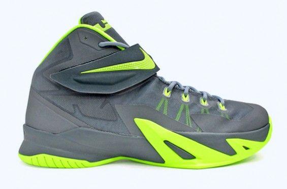 Nike LeBron Soldier 8 – Grey Volt | Nike shoe store, Nike