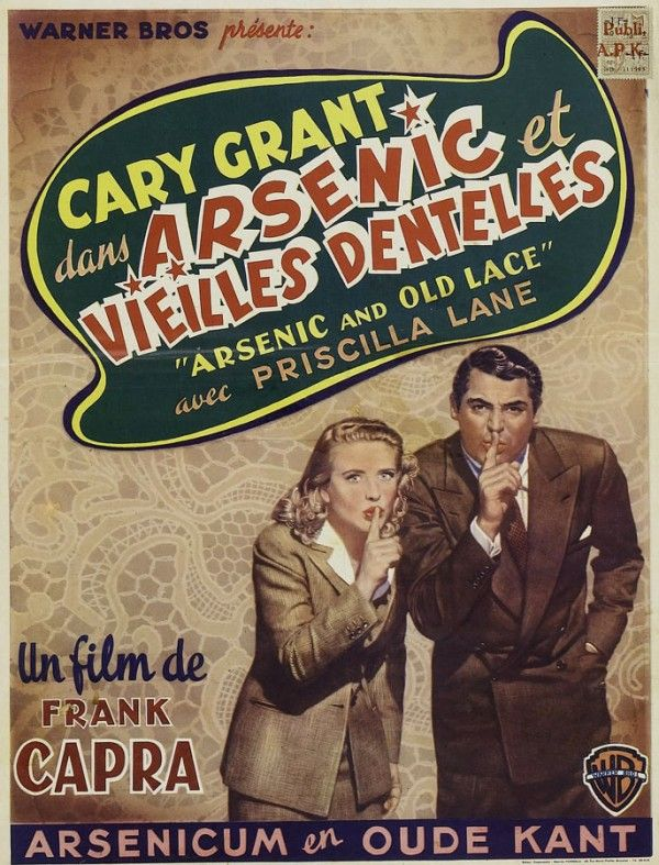 French Poster Art #classicposters #art #frenchposters #posterart #carygrant #arsenicandoldlace