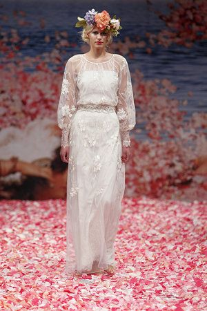 Claire Pettibone Fall 2013 love the dress not the flower thing so much...
