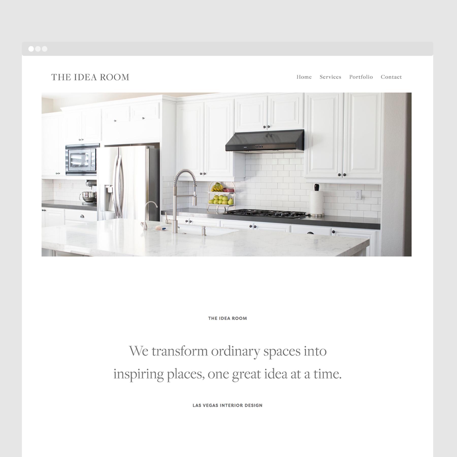 Minimalist Interior Designer Website Web Design By Flint House Interior Design Website Brand Strategy Design Design