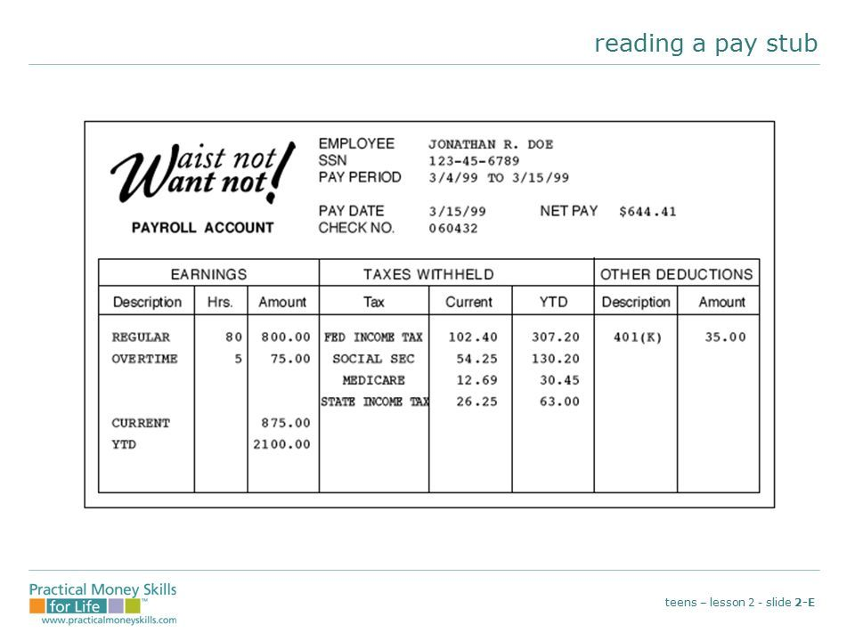 Reading a paystub #worksheet #printable #ed #jobcoach #lifecoach - check stub template