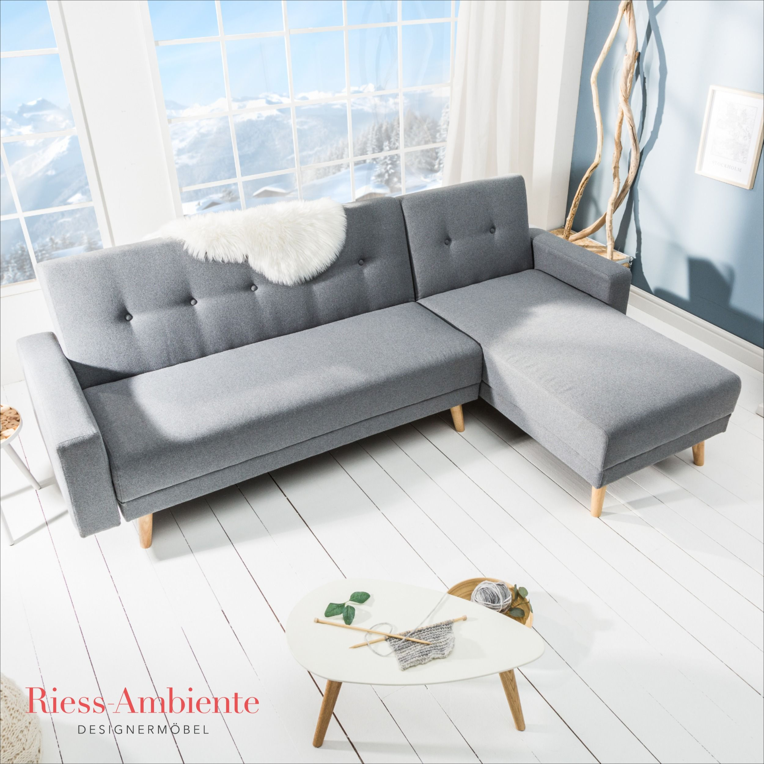 Elegantes 3er Sofa Petit Beaute 180cm Grau Samt Schlafsofa In 2020 Samt Sofa Schlafsofa Sofa