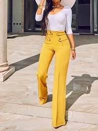 Pantalones Talle Alto Elegantes Buscar Con Google Fashion Pants High Waisted Pants Outfit High Waisted Pants