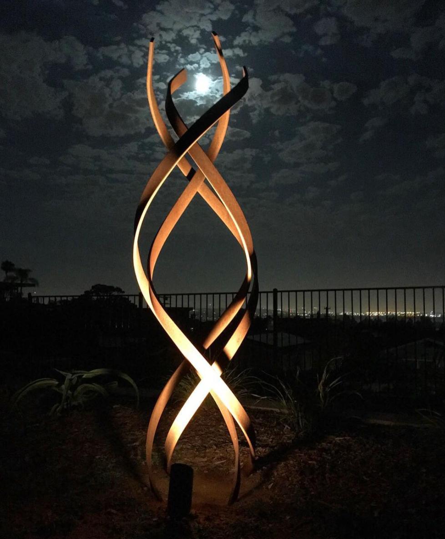 kismet stainless steel outdoor art sculpture terrasculpture