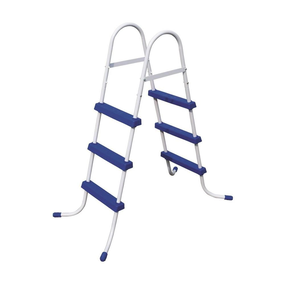 Bestway 36 In Steel Above Ground Pool Ladder And 12 Ft Round Frame Easy Set Cover Above Ground Pool Ladders In Ground Pools Above Ground Pool