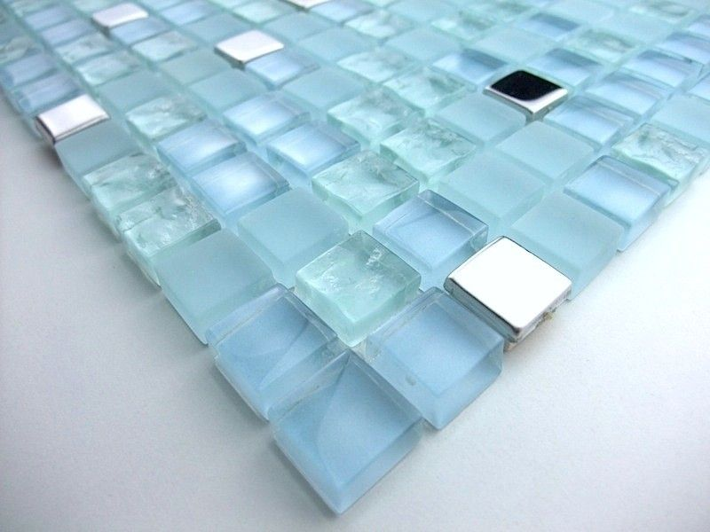 Carreaux Mosaique De Verre Salledebain Et Douche Harris Bleu