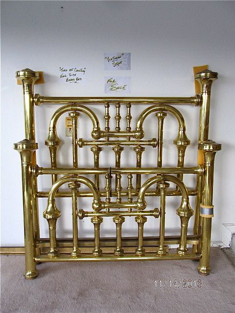 Ornate Brass Bed Full Size Turn of the by CarolynsCollections, $1100.00