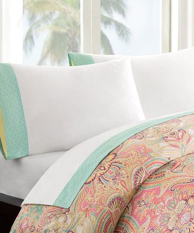 Another great find on #zulily! White & Mint Sheet Set #zulilyfinds