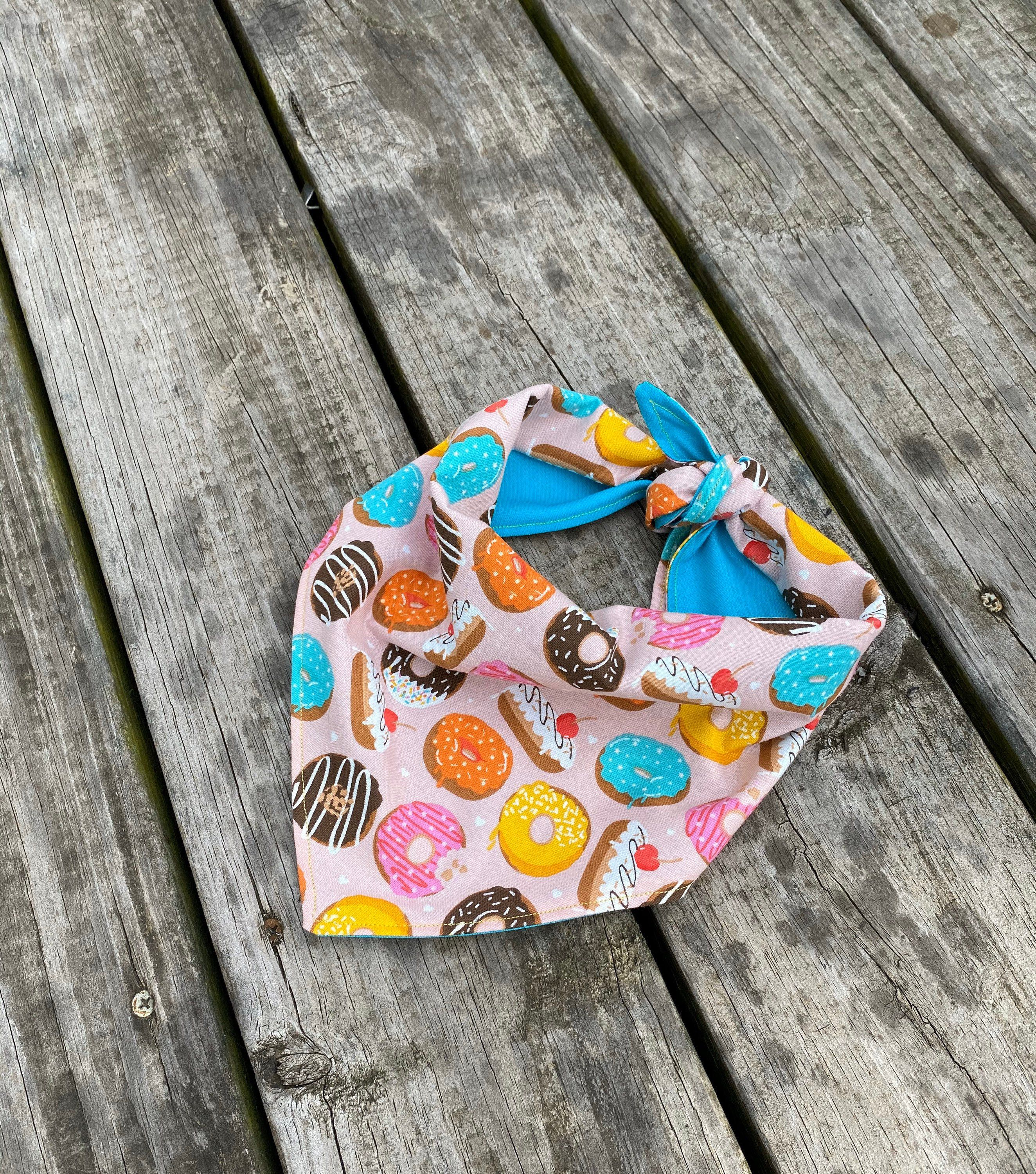 Excited to share this item from my #etsy shop: Donut Dog Bandana, Bandanas for Dogs, Sprinkles and Icing, Colorful, Donuts and Dogs, Reversible Dog Bandana #dogbandana #donutbandana #bandanasfordogs #colorfulbandana #colorful #sprinklesandicing #foodfordogs