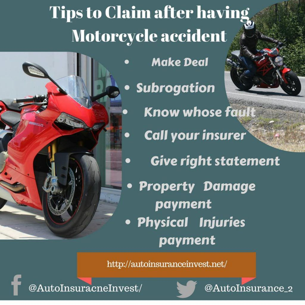 How To Claim Motorcycle Insurance After Accident Cheap Car