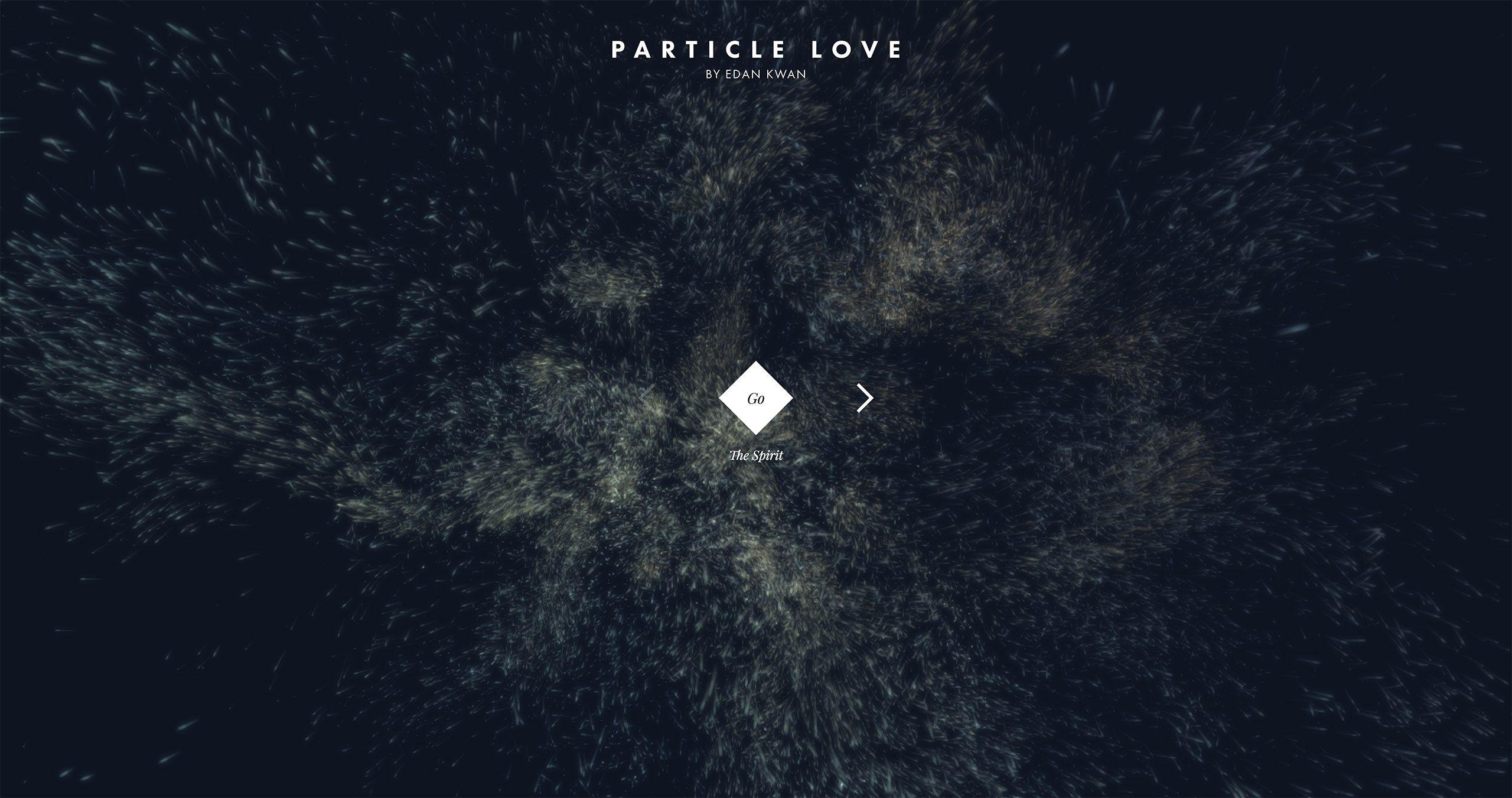 Particle Love Particles Html5 Web Design