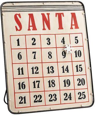 Pottery Barn Magnetic Santa Advent Calendar Perfect For