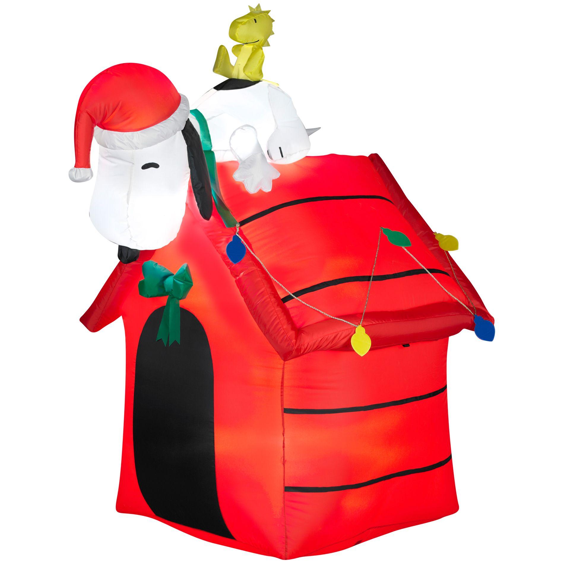 peanuts christmas inflatable
