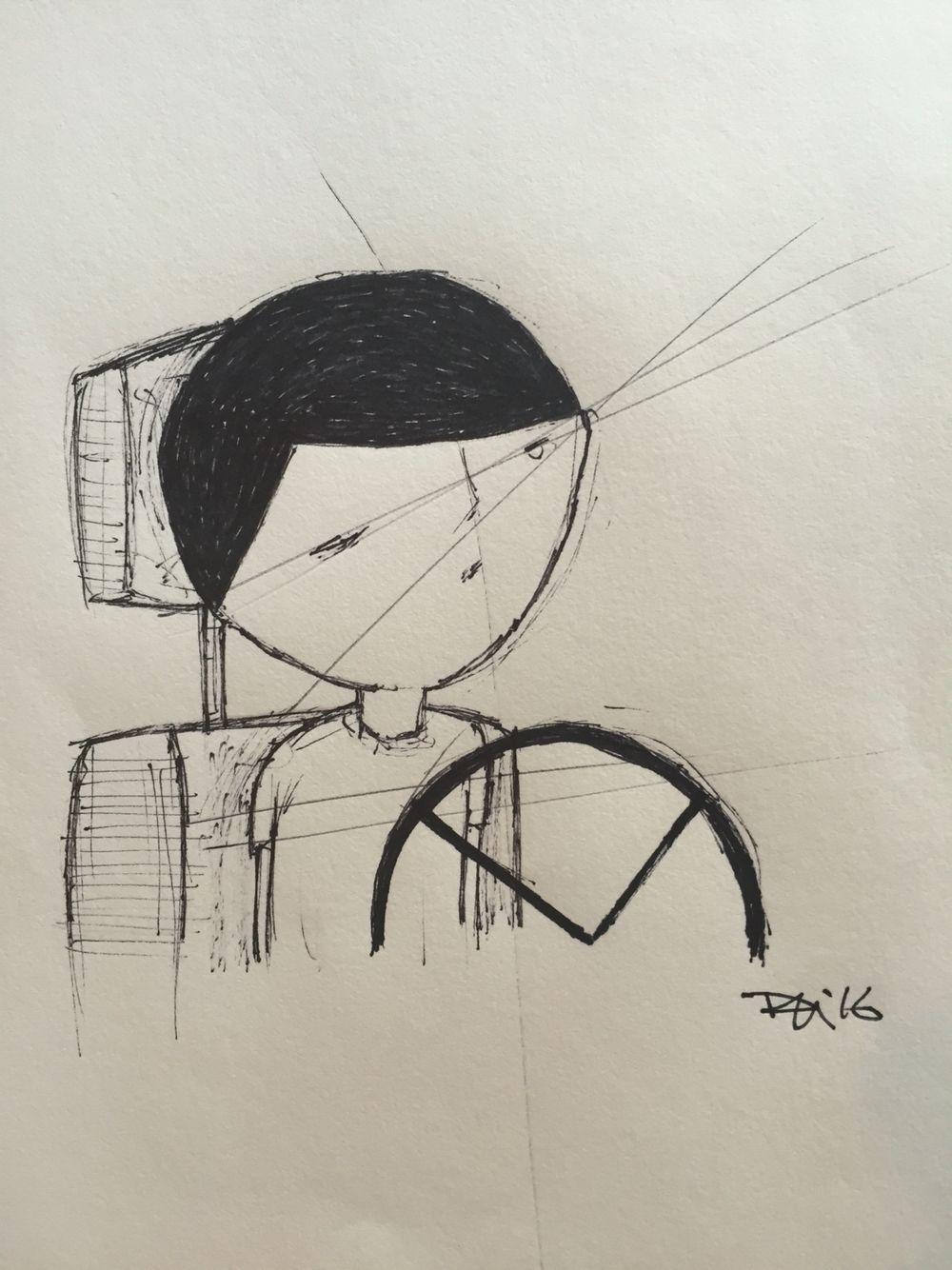 Sleeping Behind The Wheel | Male sketch, Sharpie, Art