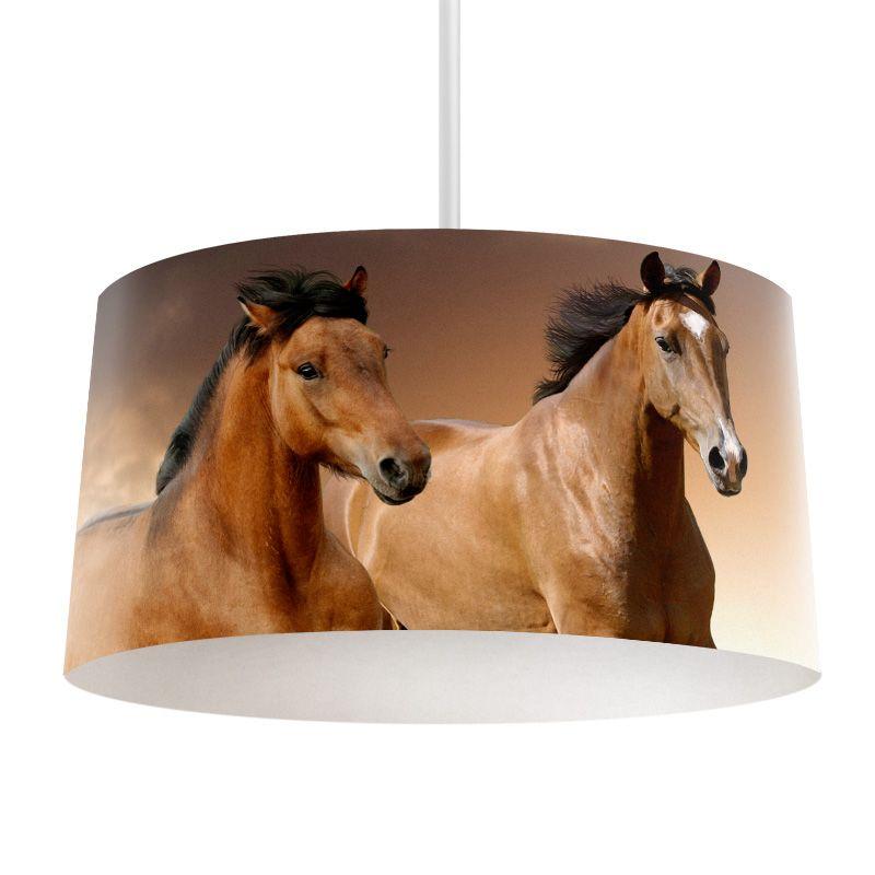 Lampenkap paarden bestel lampenkappen voorzien van digitale print op hoogwaardige kunststof - Kamer paard meisje ...