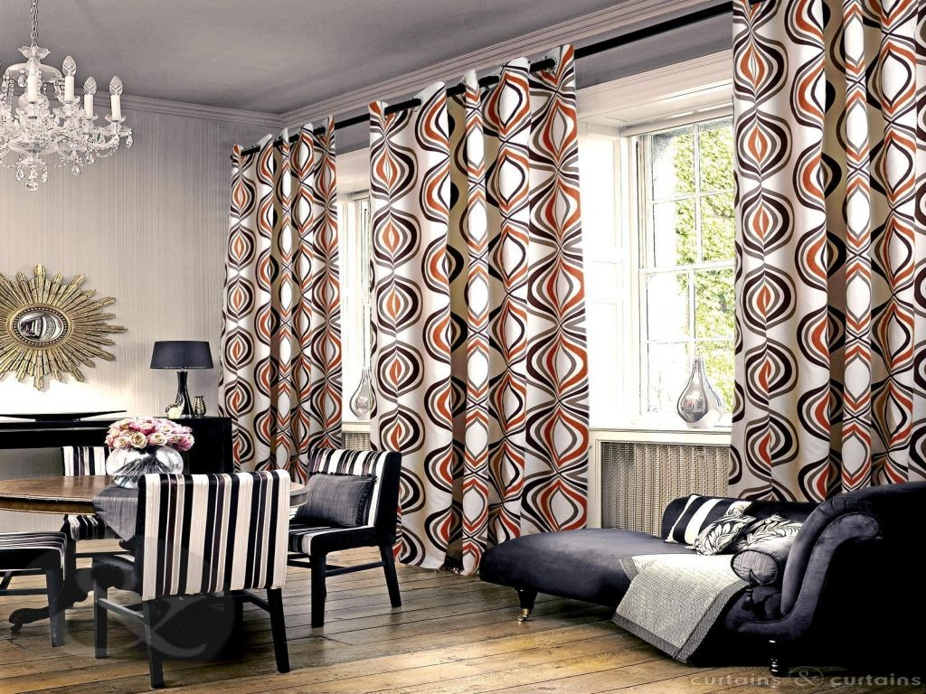 Black White And Brown Curtain Valance Orange And Black Curtains