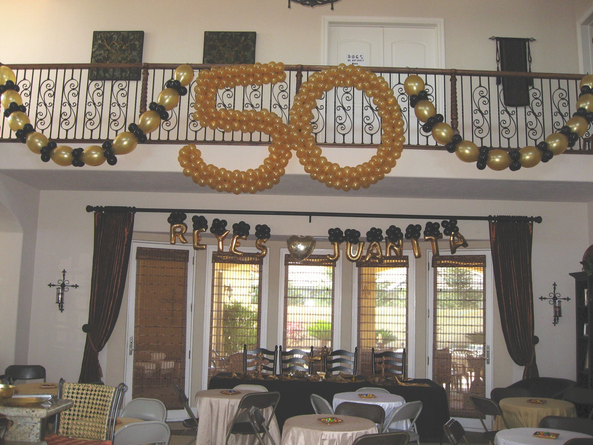 50th Anniversary Party Ideas On A Budget Balloon Dec Wedding