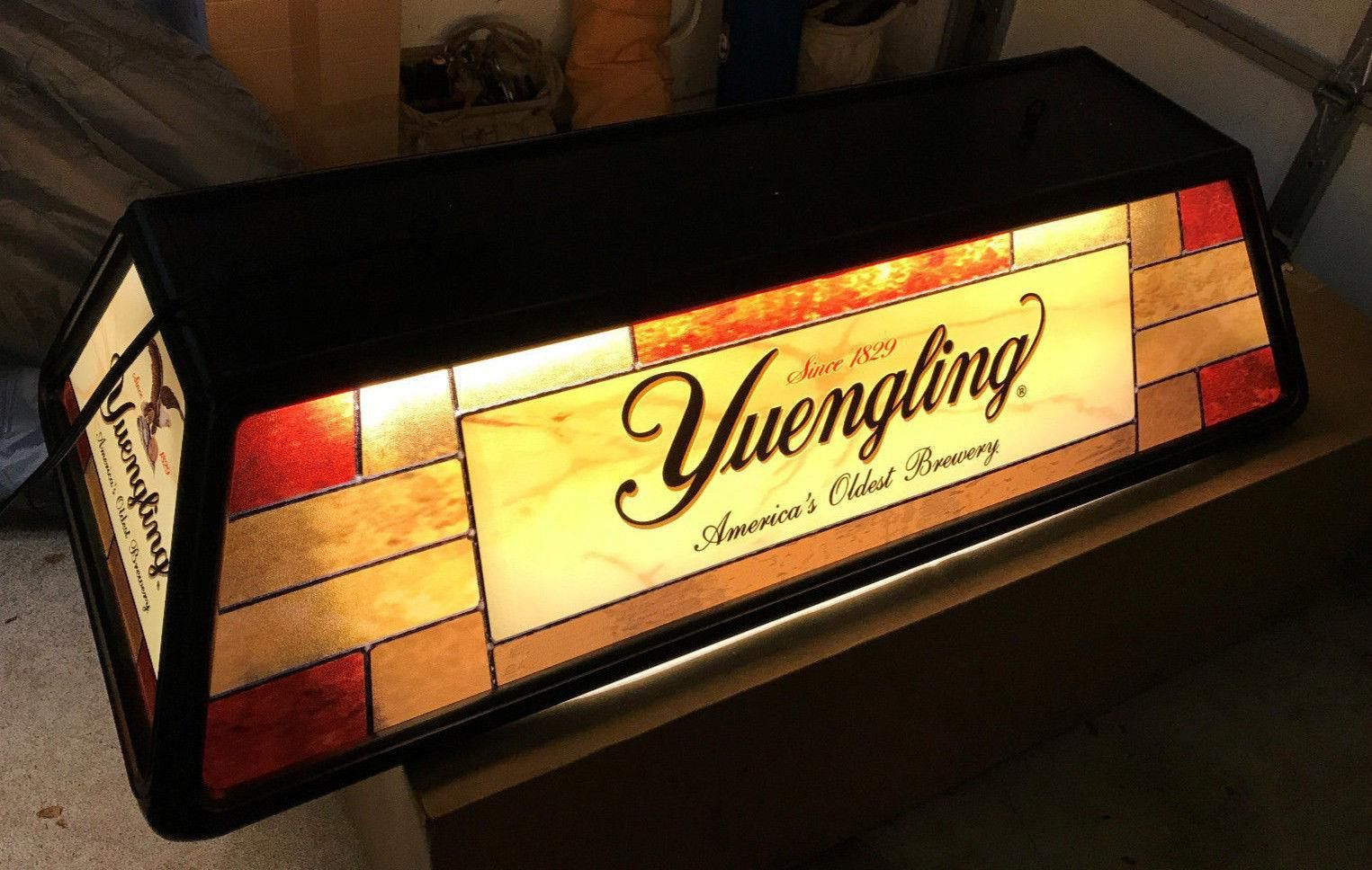 Exceptionnel YUENGLING BEER POOL TABLE HANGING LIGHT BAR