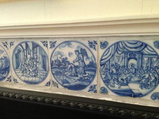 fireplace tiles delft - Google Search