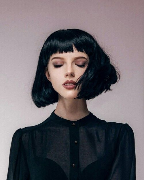 Girl Black And Hair Image Black Bob Hairstyles Hair Styles Hairstyles With Bangs