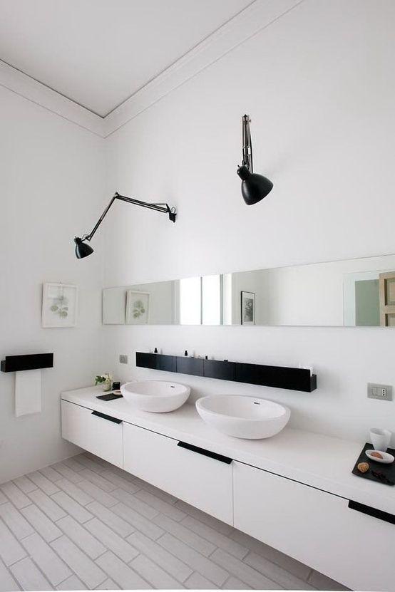 miroirs et luminaires pour la salle de bain. impressionnant lampe ... - Suspension Salle De Bain Design