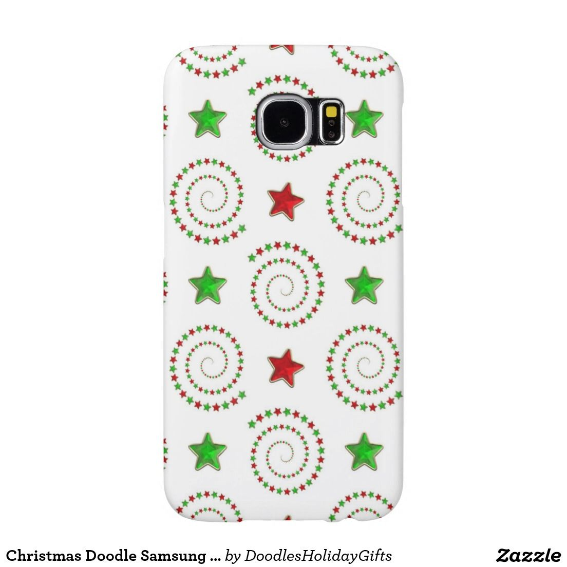 Christmas Doodle Samsung Galaxy 6S barely there ca Samsung Galaxy S6 Case