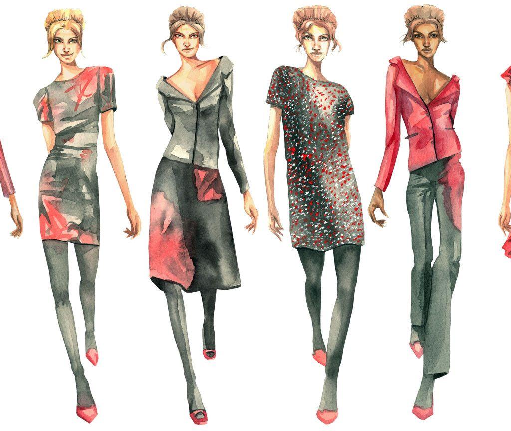 Fashion Designer Sketches Black And White Wallpaper | dresses ...