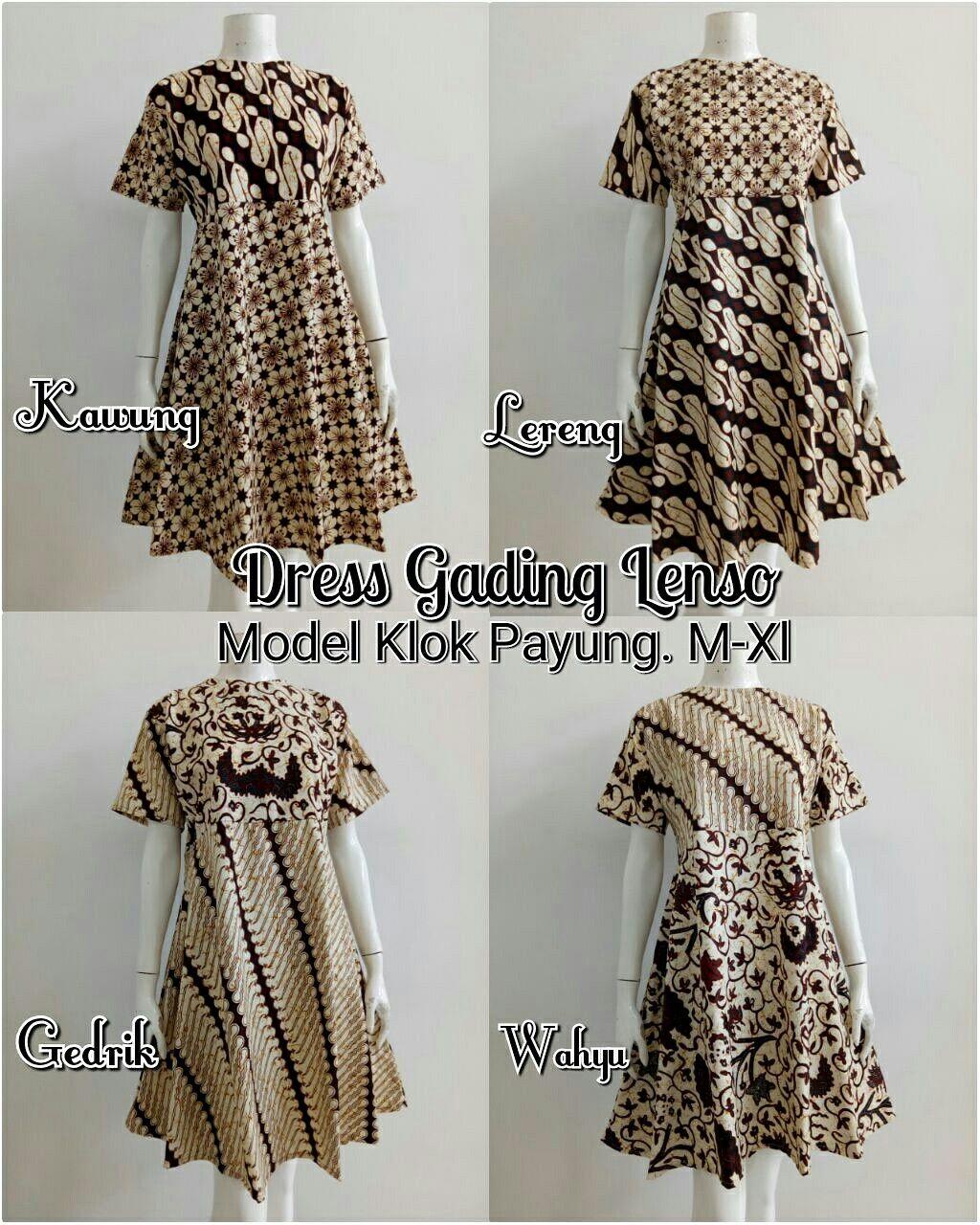 Dress Gading Lenso M Xl Model Klok Payung Rits Belakang Panjang Kemeja Batik Pria Prada Lengan Pendek 2 Layer Mlxl 95cm