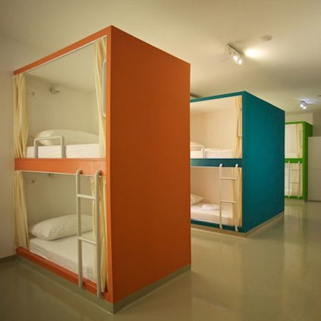In Croatia A Hostel With Mediterranean Colored Bunk Beds