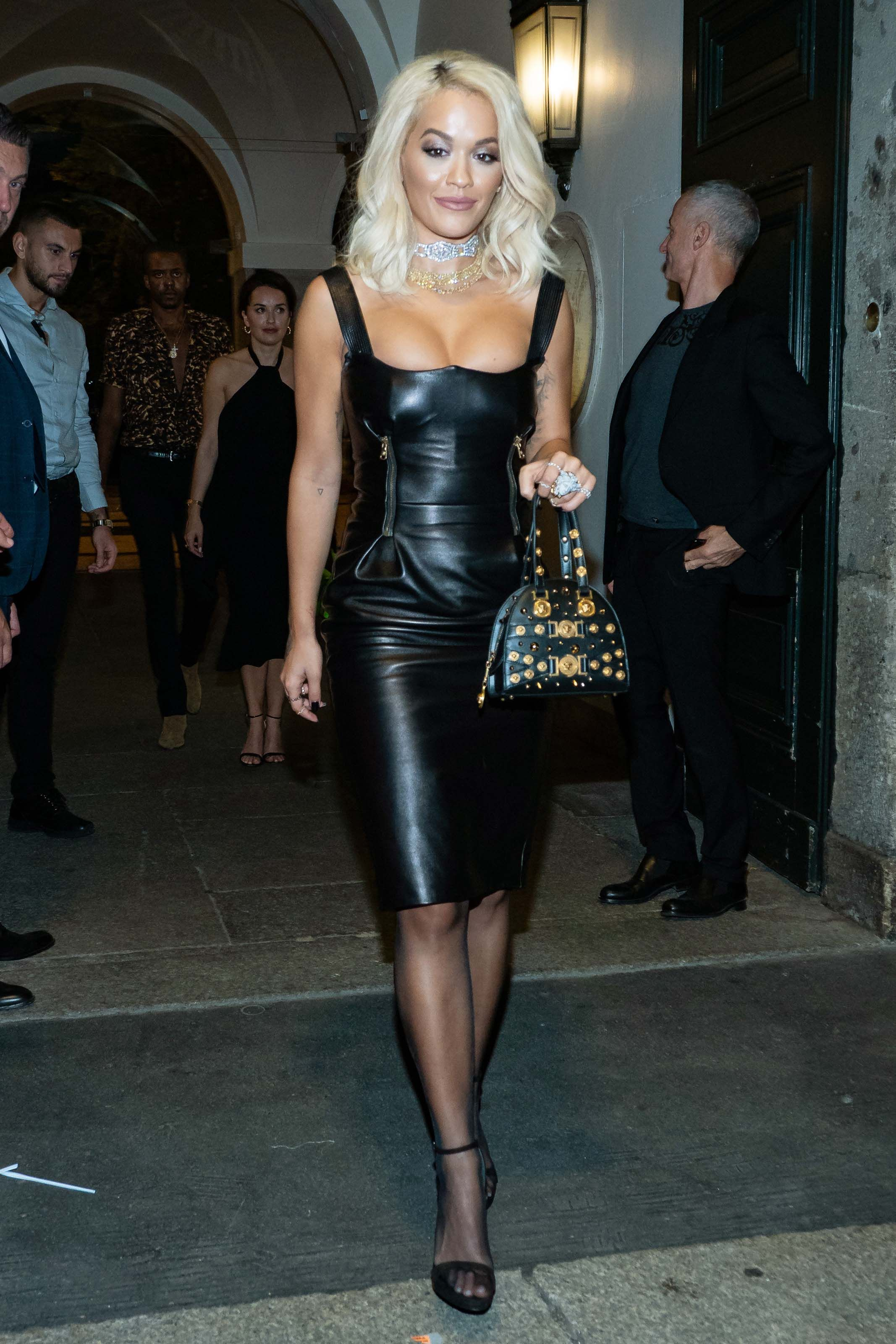 527d8420436 Rita Ora attends Milan Fashion Week