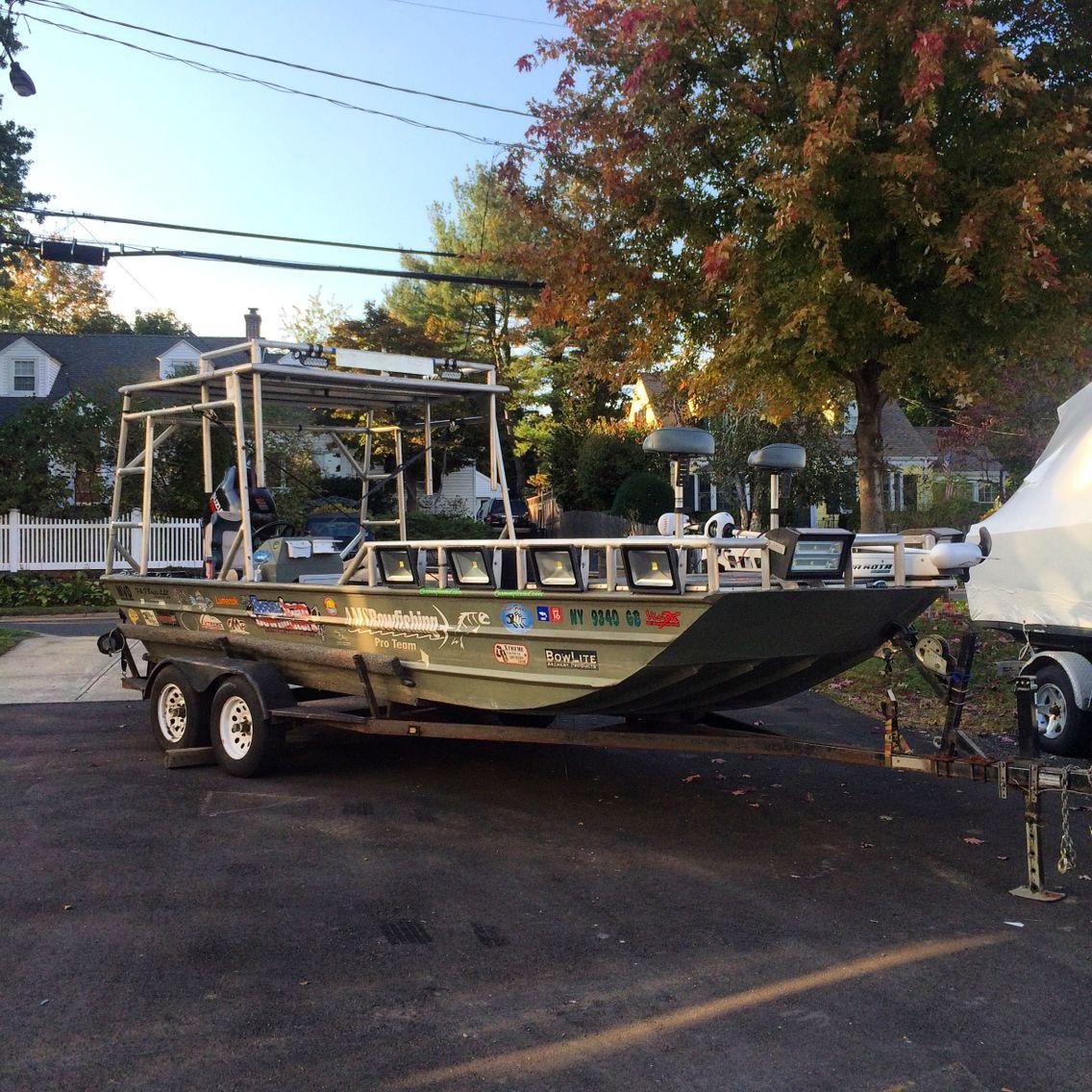 Beast mode jon boat jon boat for Bow fishing boats