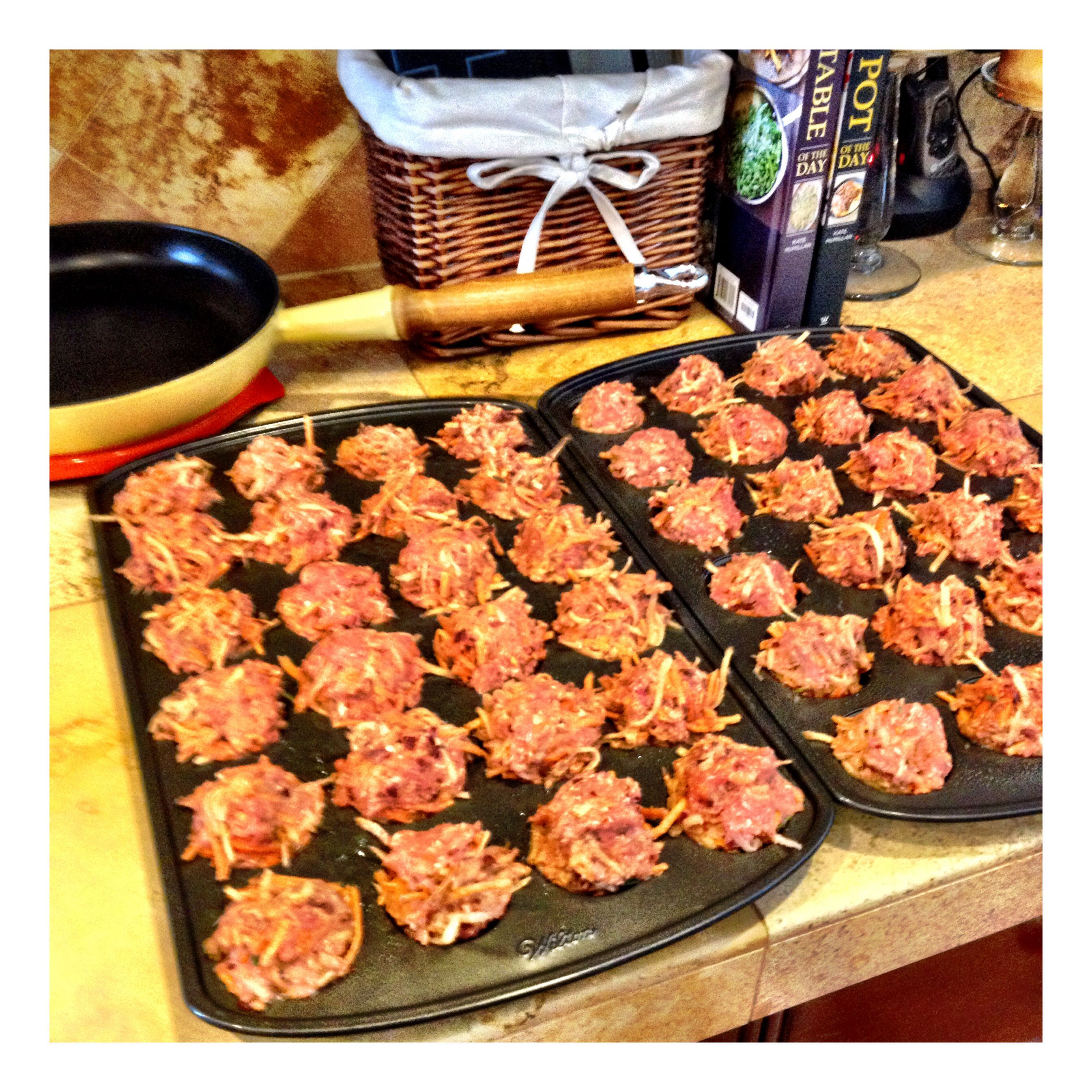 Yorkie meat muffins. All natural Homemade dog food. I feed