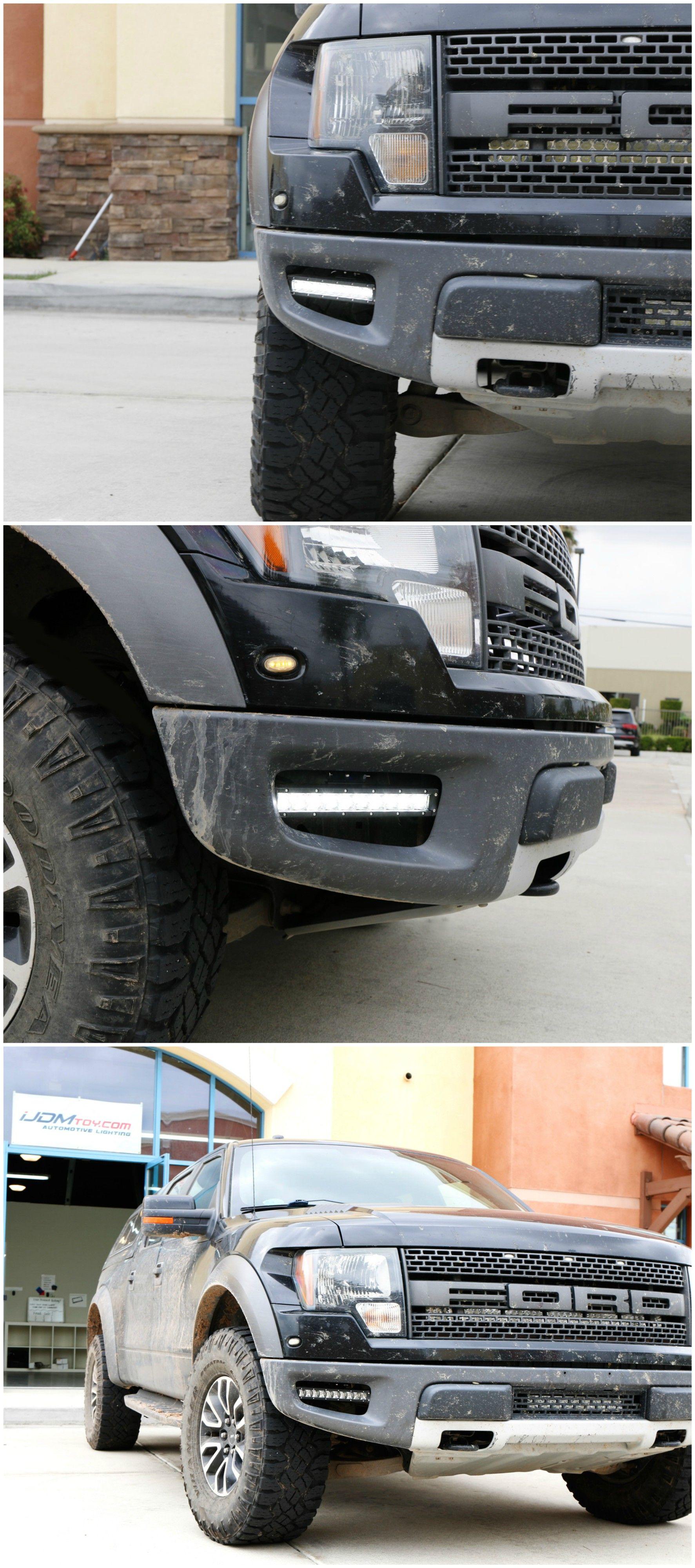 Easily Bolt On Our New Led Light Bar Fog Lamps To Fill Your Empty Fog Light Space And Achieve Super Lighting F Led Light Bars Ford Raptor Lighting Bar Lighting