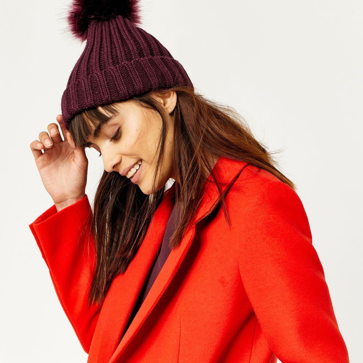 Faux fur pom hat fur pom pom pom pom hat quirky fashion