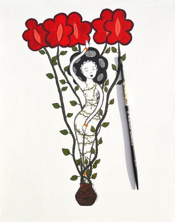 I Grow   16x20 Original Painting by Precious Henshaw