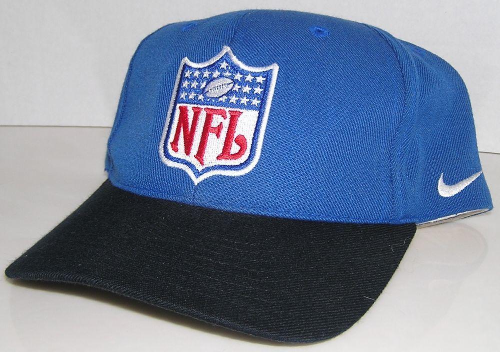 NFL Shield Vintage Nike Team Referee Officials Blue Deadstock Snapback Hat  Cap  Nike 43363cece94