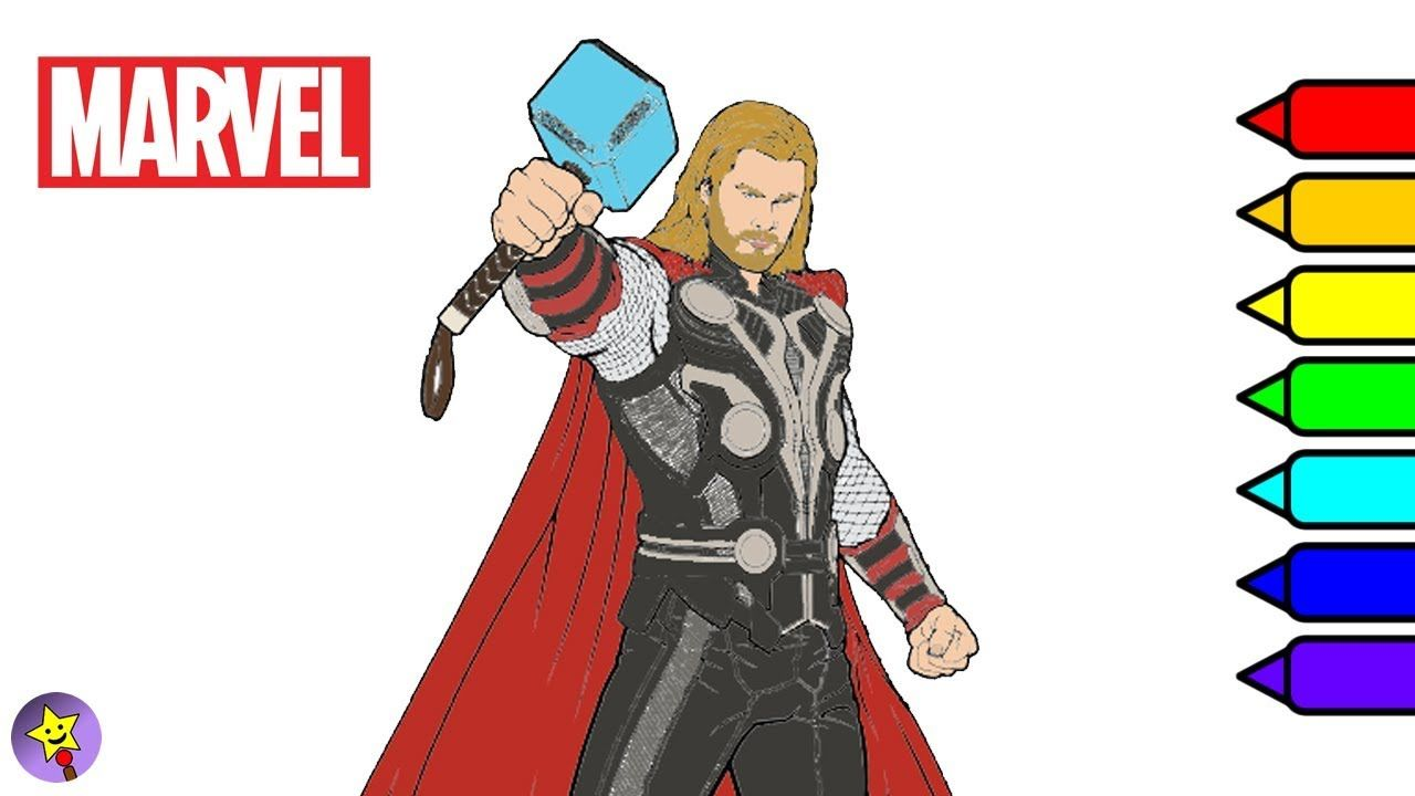 Digital Coloring Of Thor Thor Coloring Book Page Marvel Avengers Coloring Book Page Marvel Superhero Co Avengers Coloring Superhero Coloring Marvel Superheroes