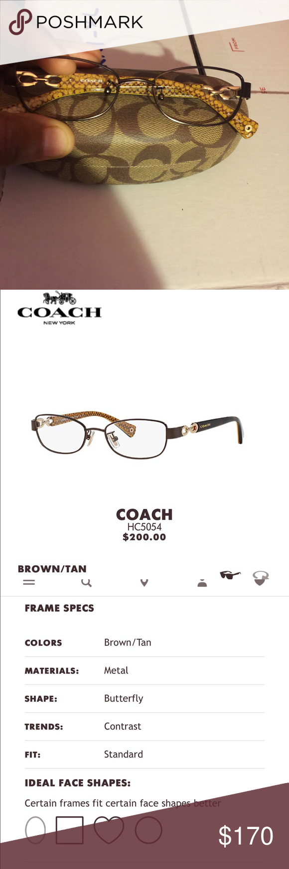 Authentic coach frames HC5054(Faina) Brand new! No lenses in them ...