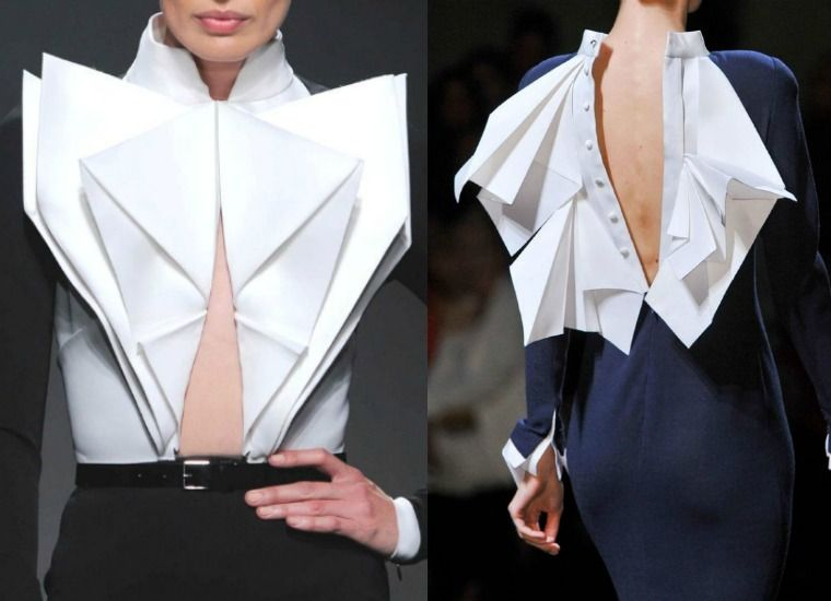 Origami Fashion Inspiration The Art Of Folding Japanese Paper Inspires Contemporary Fashion Designers Origami Fashion Pattern Fashion Origami