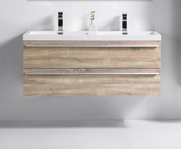 Sophia Golden Elite 48 Wheat Modern Wall Mount Bathroom Vanity