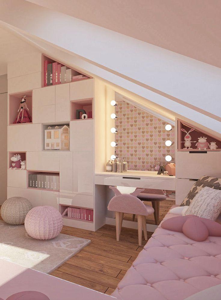 Photo of Idea di design per la stanza di una ragazza in un design rosa