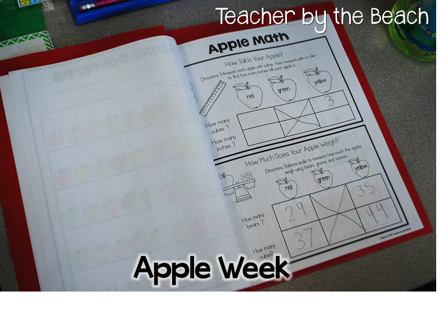 Apple Week Fun - with Freebies!...I like the idea of putting everything together in a booklet!